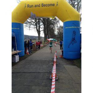 Dan Doherty winning the 100 km Photo John Kynaston