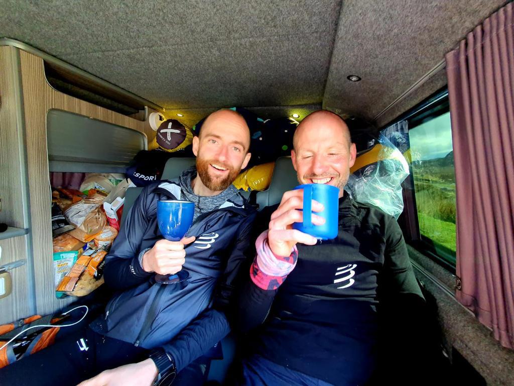 Paul Giblin and friend Graham Connolly